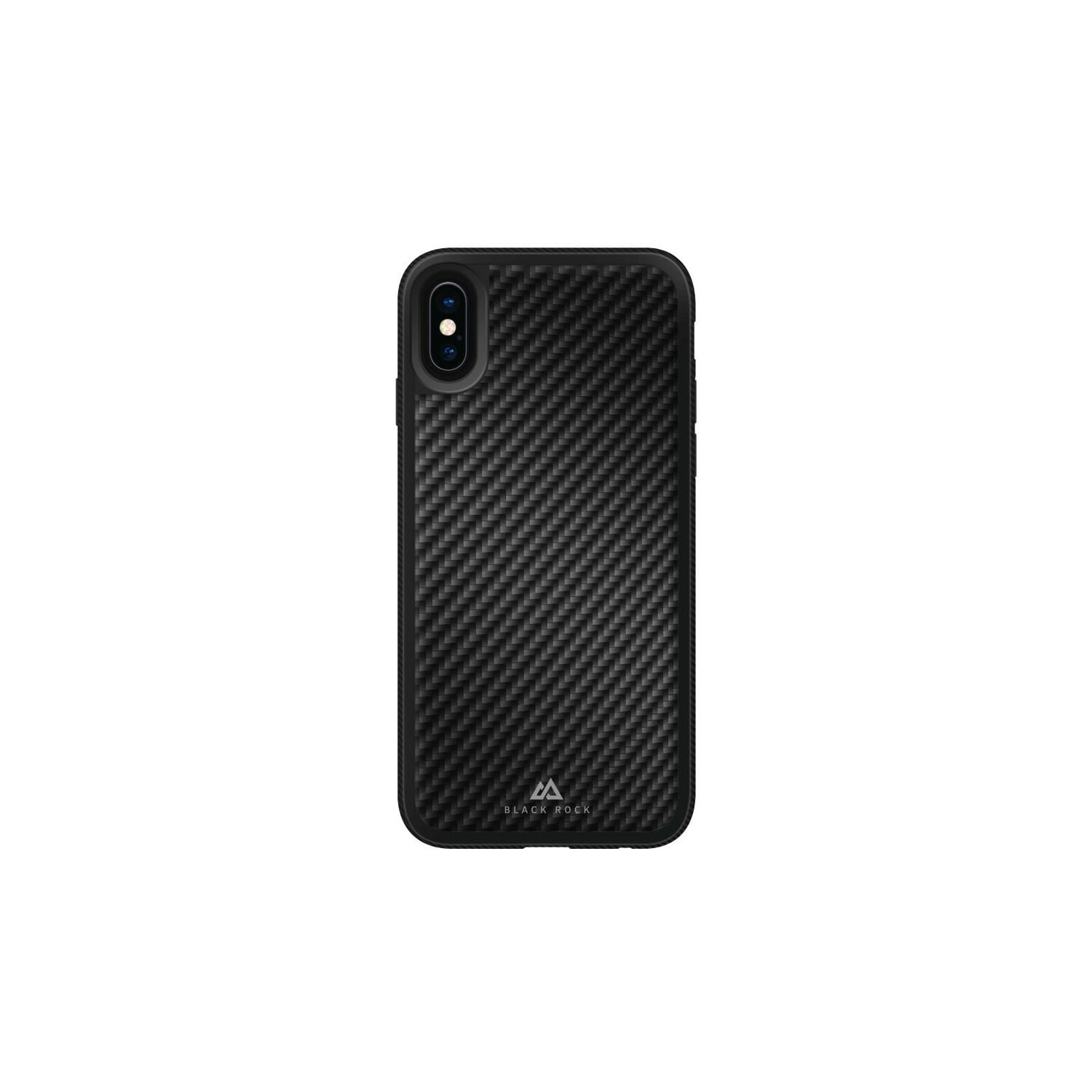 Etui HAMA Black Rock Cover Material Real Carbon Apple iPhone X Czarny