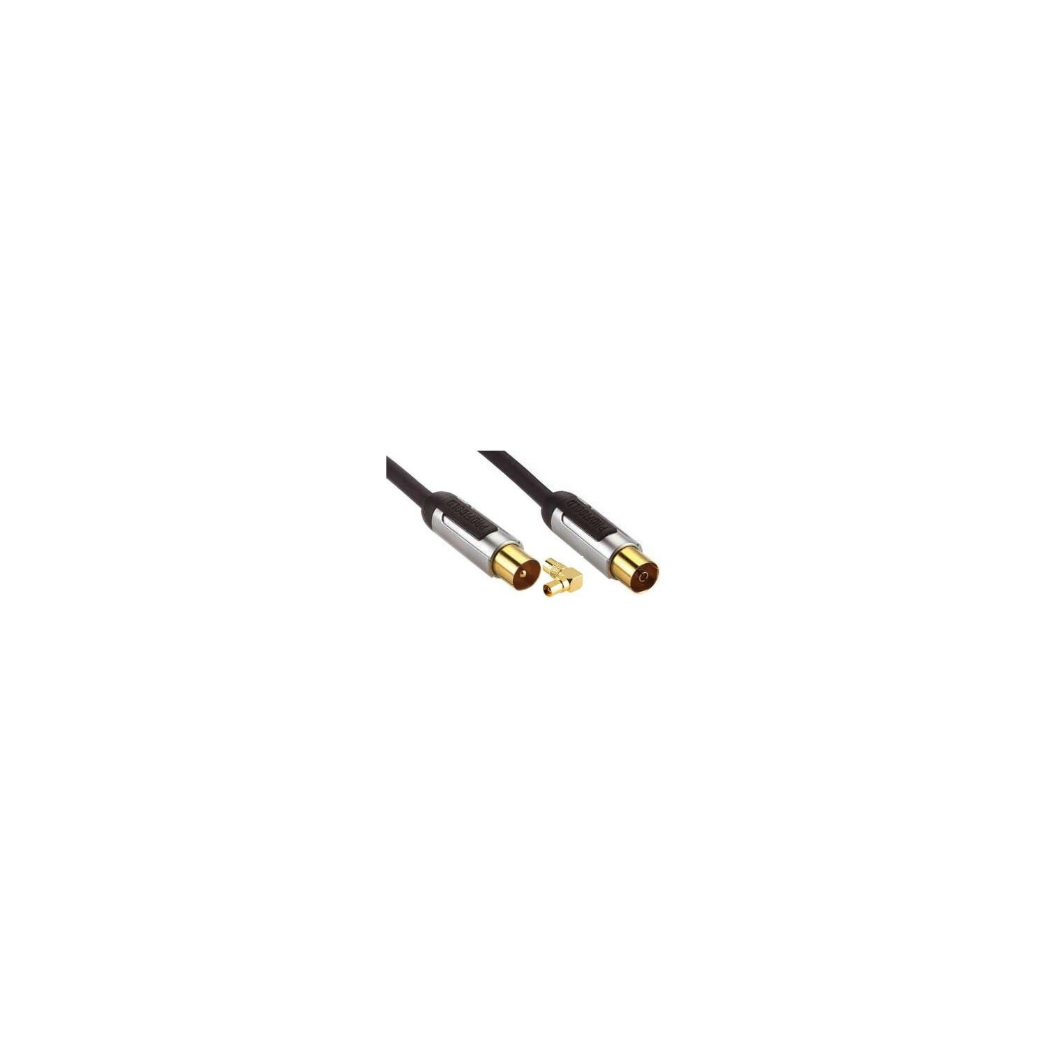 Kabel PROFIGOLD Antenowy Coax M - Coax F + adapter 3m