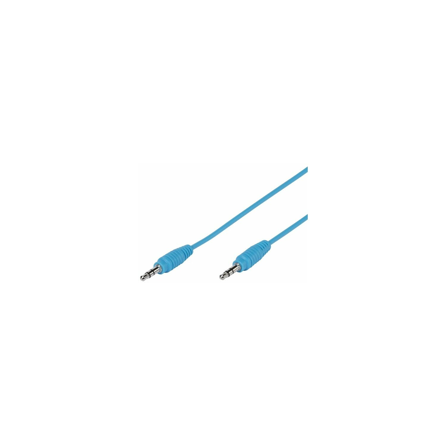 Kabel VIVANCO jack 3.5 mm - jack 3.5 mm 1m Niebieski