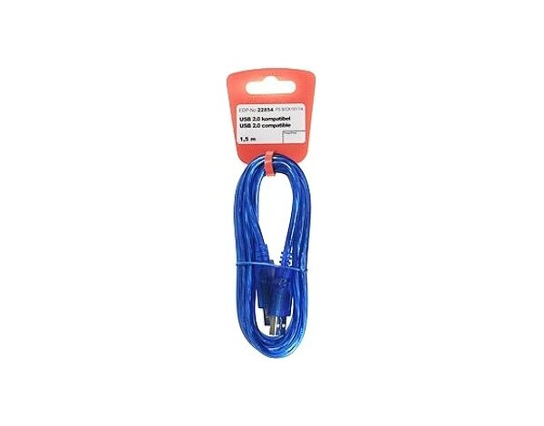 Kabel VIVANCO USB 2.0 A-B Promostick 1.5 m
